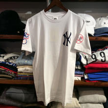 """【ラス1】Majestic """" NY sleeve logo"""" tee (White×Navy)"""
