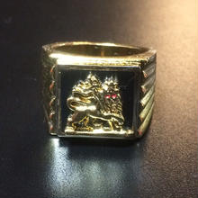 "【残り僅か】RUGGED × RUDE BOYZ CLUB ""JAH LION"" ring (gold plate)"