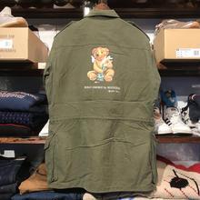 """RUGGED on Vintage """"POLO SMOKE"""" military shirt (S)②"""