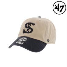 【ラス1】'47 CLEAN UP White Sox Cooperstown  adjuster cap (Two Tone Natural)