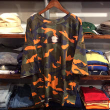 【残り僅か】ViiDA × AnotA camo big tee (Orange)