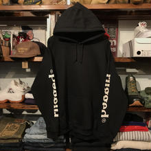 "【残り僅か】RUGGED ""SLEEVE LOGO"" sweat hoodie (Black/8.0oz)"