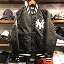 """【ラス1】Majestic """"NY"""" satin jacket(Black)"""