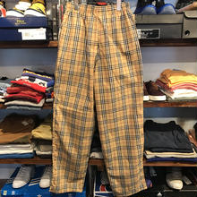 Check easy pants (Brown )