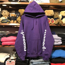 "RUGGED ""rugged®︎"" sleeve logo sweat hoodie (Purple)"