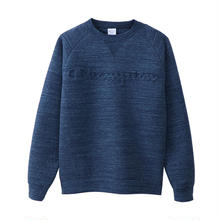 "【残り僅か】Champion  Wrap-Air ""LOGO"" sweat (Heather Navy)"
