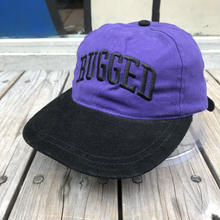 "【残り僅か】RUGGED on deadstock  ""ARCH LOGO"" adjuster cap (Purple/Black)"