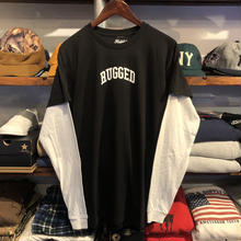 "【残り僅か】RUGGED ""SMALL ARCH"" fake layered L/S tee(Black)"