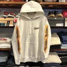 """【ラス1】RUGGED """"BLUNT FIRE"""" sweat hoodie  (R 12.0oz./White)"""