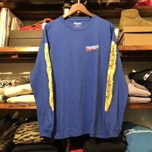 "RUGGED ""BLUNT FIRE"" L/S tee(Blue)"