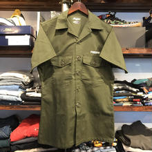 "RUGGED on vintage ""ARCH LOGO"" military shirt (Olive)"