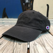 "【残り僅か】RUGGED on Champion ""SMALL ARCH"" adjuster cap(Black)"