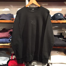 "【残り僅か】RUGGED ""OLD R"" light-oz. sweat (9.4oz./Black/Black)"