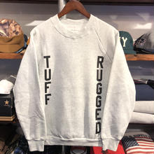 "RUGGED on vintage ""TUFF RUGGED"" raglan sweat ④"