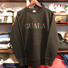 "【残り僅か】GUALA ""Two‐tone Logo"" heavy-weight sweat (12.7oz./Black)"