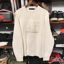 """POLO RALPH LAUREN """"FLAG"""" knit sweater (M)"""