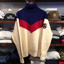 POLO RALPH LAUREN ski wappen turtle neck sweater(L)