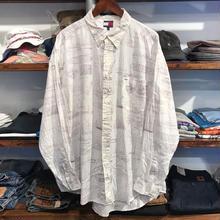 TOMMY HILFIGER yackt B.D shirt(XL)