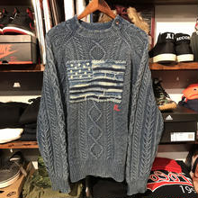 """POLO RALPH LAUREN """"FLAG"""" cable knit sweater (M)"""