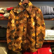 nobrand scale leather jacket