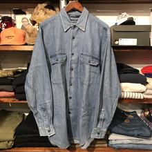 nautica double pocket denim shirt (M)