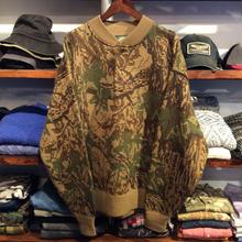Caberas tree camo henry neck sweater(XL)