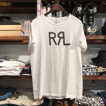 RRL logo cotton tee (L)