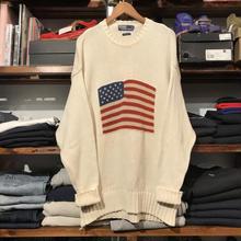 POLO RALPH LAUREN flag cotton sweater (L)