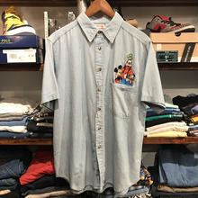 MICKEY INC. Disney wappen denim S/S shirt (M)