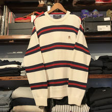TOMMY HILFIGER border knit sweater (M)