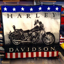 HARLEY DAVIDSON whole designed blanket