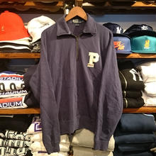 "POLO RALPH LAUREN  ""P  logo"" half zip sweat (M)"