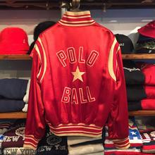 POLO RALPH LAUREN satin stadium jacket