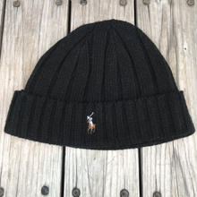 POLO RALPH LAUREN small pony knit cap (Black)