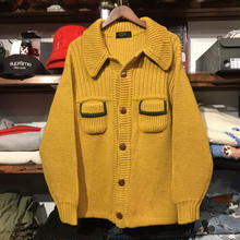 Mens knit wear Ron button pocket knit (M)
