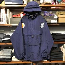 CAMPUS CREW anorak nylon jacket (L)
