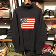 "POLO RALPH LAUREN ""FLAG"" wool sweater (L)"