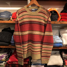 POLO RALPH LAUREN border lamas wool sweater(M)
