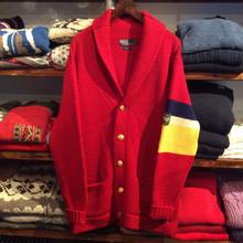 POLO RALPH LAUREN shawl collar sweater(M)