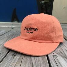Supreme classic logo leather adjuster cap