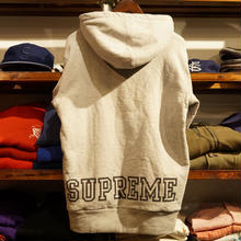 Supreme back logo heavy-weight sweat hoodie (M)