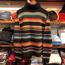 POLO RALPH LAUREN turtle neck border sweater(M)
