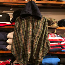 Old College Inn plaid shirt with hood (M)