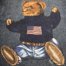 "POLO COUNTRY RALPH LAUREN ""POLO BEAR"" denim shirt (M)"