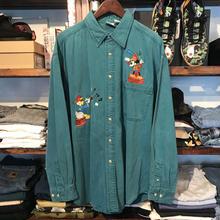 Disney color denim shirt (L)