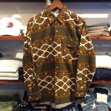 CEVDET paisley flannel shirt