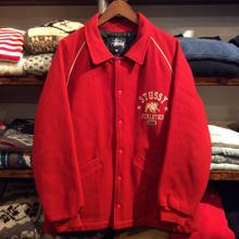 stussy wool stadium jacket(M)