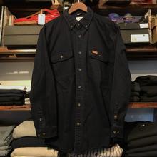 Carhartt leather logo denim shirt (L)