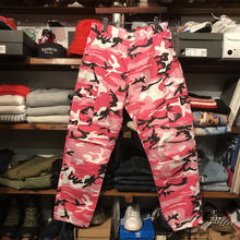 Military color camo pants (pink)