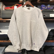Champion logo pull over sweat (M)